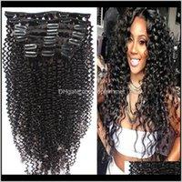 In / auf produkte fall lieferung 2021 afro kinky curly clip in menschlichen Erweiterungen brasilianisch peruanisches indisches malaysisches jungfräser haar natürlich schwarz 8-2