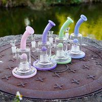 Einzigartige Matrix Birdcage PERC HEADY GLAS BONG DOME PERCOLATOREN KAMMERÖL DAB RIGS Lila Rosa Grün Wasserleitungen 14mm Weibliches Gelenk mit Schüssel
