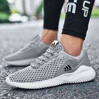 Men's autumn new hollow mesh sports light running large men's casual fashion shoes