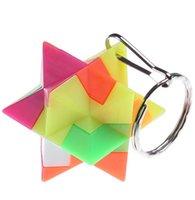 200PCs Mini Keychain Magic Cube Trihedron Cylinder Speed Cube Pussel Neo Cubo Magico Learning Educational Leksaker för Barn Boys 2021 Hys42-8