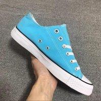 Classic Tamanho Grande 35-46 Unisex Baixa / Alta Top Canvas Sapatos Homens Mulheres 15 Cor Laced Up Sapatos Casuais