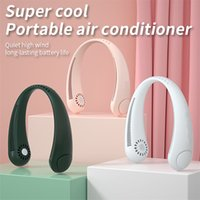 Neck Fan Portable Bladeless Fan 2400mAh Rechargeable Handfree Hanging Sports Fans for Home Outdoor Air Cooler
