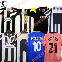 2004 2005 Retro Ju del Piero Conte Soccer Jersey Pirlo Buffon Inzaghi 84 85 92 95 96 97 98 99 02 03 UV Rossi Zidane Alte Maillot Davids Boksic Shirt