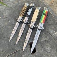 Samsend high-end 8,9 polegadas estilo italiano faca dobrável 440 de aço EDC Bolso ao ar livre facas táticas