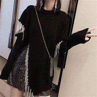 Suéter Con Borlas Y Diamantes Para Mujer, Ropa Holgada De Otoño, Top Punto Dividido, 2021 Women's Sweaters