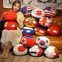 Novo 10 CM Country Ball Brinquedo Penhasco Penhasco Polandball Boneca de Plush Countryball URSS EUA França Rússia Reino Unido Japão Alemanha Itália