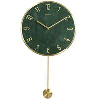 Marco de metal relojes de pared Decoración del hogar Moderno reloj de mármol con decoración de swing jardín