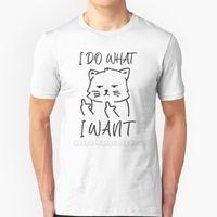 Men's T-Shirts I Do What Want Short-Sleeved T-Shirt Harajuku Hip-Hop Tee Tops Cat Cute Cats Funny Kitten Kitty Animal Animals Pets