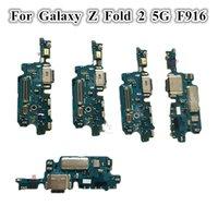 20 stücke Original USB-Ladegerät Dock Connector Flexkabel Ladeanschluss Mikrofonplatine für Samsung Galaxy Z Falten 2 5g F916 F9160 W21