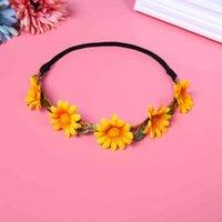 Hair Accessories Seaside Suower Head Daisy Children's Ribbon Chrysanthemum Wreath Bridesmaid