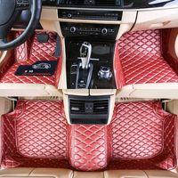Custom Fit Car Bodenmatten Spezifisch wasserdichtes Leder umweltfreundliches Material für das Automodell und machen 3 Stück voller Set Rosa