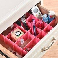 DIY ящики делители пластиковых регулируемых выдвижных ящиков делитель домашнее хранение для дома Tidy Close Makeup носки нижнее белье HWB7327