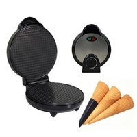 Waffle Maker Iron Machine Electric, Ice Cream Cone Maker, Egg Rolls Non-Stick Baking Moulds