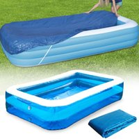 Swimming Pool Cover Cloth PE Tarpaulin Rectangle Ground Dust...