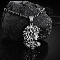 Greek Mythology Snake Hair Medusa Neutral Necklace Nordic Ins Tag Long Pendant Sweater Chain