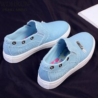 Dress Shoes women's canvas shoes Slide in flat Casual spring feminine denim fashion breathable SGT3