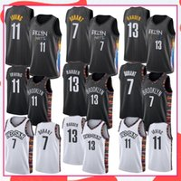 James 13 Harden Hommes Basketball Jerseys Kyrie 11 Mens Irving College Kevin 7 Durant Jersey Extérieur Camisetas de Baloncesto 2021 Stock S-XXL