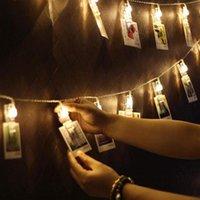 Cordes LED Guirlande Christmas String Lumières 5M 20led Coeur Shape Clip Pic Clipart 220V Corttina de Arbre Décoration de mariage