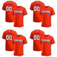 95 Custom Orange White-Purple Authentic American Flag Fashion Baseball Jersey