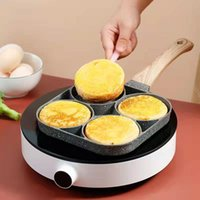 Pans 4-Cup Egg Frying Pan Non-Stick Cooking Pancake Steak Ham Omelet Breakfast Maker Cookware Kitchen Tools Accessories
