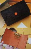 6 الحقيبة المحفظة الداخلية حامل كيرينغ المرأة كلاسيك ستة حلقة الرجال الجلود مفتاح M62630 M60701 M61285 M61538