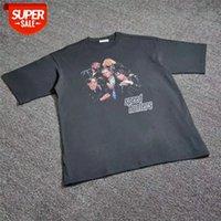 특대 18FW 스피드 헌터 티셔츠 남성 여성 1 : 1 고품질 탑 티 스트리트웨어 # 7T48