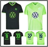 20 21 VFL Wolfsburg 축구 유니폼 Weghorst Arnold 홈 2021 Malli Brekalo Mehmedi Ginczek Guilavogui Xaver Steffen 축구 셔츠