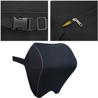 Seat Cushions Car Headrest Pillow Neck Memory Lumbar Support Cotton Auto Rest Cushion Breathable R6F6