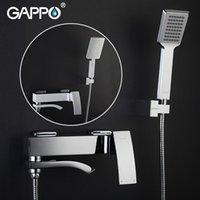 Gappo Chrome Bronze Chuveiro Torneira Banheira Torneira de Água Cachoeira Com Hand Head Set Wall Bathroom Chuva Griferia Define
