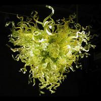 Lambalar Sanat Dekorasyon Yeşil Renk El Üflemeli Cam Avizeler Aydınlatma Dubleks Yapı Salonu Için Led Ev Yatak Odası Yemek Yemek Yaşam Çalışma Günlük Oda 100x120 cm Işık
