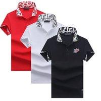 T-shirt Hommes Hommes Polo T-shirt Été Vapeur à manches courtes Coton Impression de Coton T-shirt de broderie pour hommes 2021