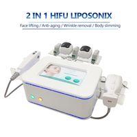 2021 지방 감소 Liposonix 슬리밍 기계 Liposunix Hifu Facelift 치료 2 in 1 바디 윤곽 얼굴 피부 리프팅 리프 히후