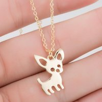 Smjel New Cute Chihuahua Pendentif Animal Colliers pour Femmes Aimer My Animal Animal Collier Choker Coukers Ketting Bijoux Cadeaux 1619 V2
