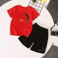 Disponibles Logotipo de Lujo Designer Boy Camiseta Pantalones de 2 a 7 años Establecer Marca Niños de 2 piezas Ropa de algodón Ropa para niños Ropa de moda