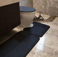 Mode Klassische Toilette Sitzbezug Polyester Hohe Qualität Badezimmer Sets Home No-Slipe Teppich Unisex Matte