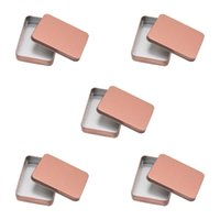 Storage Boxes & Bins 5Pcs Square Tinplate Box Keychain NailClipper Container Random Color