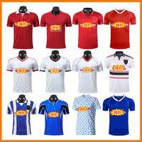 Versión retra Soccer Jerseys 07 08 83 86 Finales Fútbol Giggs Scholes Beckham 88 90 92 94 96 98 99 Cantona Keane Vintage Classic Kits