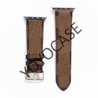 Nova alça de couro de design para a série de banda de Apple Watch 6 5 4 3 2 40mm 44mm 38mm 42mm pulseira para iWatch Belt YY33