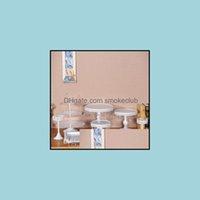 CUPCAKE Cuisine Cuisine, Bar à manger Home Garden8pcs Blanc Cany Cany Cookie Affichage Table de bac de mariage Decoration Fournisseur Fournisseur Baking Pa
