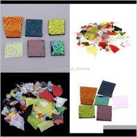 Arti e artigianato 56 g Assorted Confetti Chips 90 Coe Dichroic Vetro colorato per forno a microonde Forno di fusione Fornitura di gioielli FAI DA TE Fare Accesso FOFY3