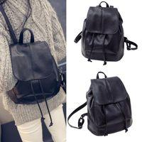 Backpack Fashion Small Drawstring PU Leather Backpacks Teenage Girls School Bags Women High Quality Casual Rucksack #7.7
