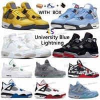 Air jordan 4 Retro aj4 jordans Arrivals OG Mens Womens 2021 4s Basketball University Blue White Oreo Shoes Rookie union the Year Shattered Crimson Jumpman Sneakers Trainers