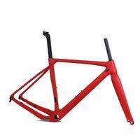 Çakıl Bisiklet Frameset Tam Karbon Bisiklet Çerçeve Yolu Cyclocross Boyutu: S / M / L / XL Disk Fren Çerçeveleri