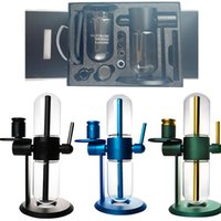 Wholesale STUNDENGLASS Gravity Bongs Hookahs Starter Kit Water Pipe Glass Bong Bowl Smoking Pipes Dab Rig Smoke Dry Herb For Tobacco 3 Colors