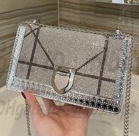 Moda Womens Luxurys D Designers de Alta Qualidade Sacos de Ombro Bolsas Carteira Cadeia de Cristal embreagem Saco Totes Crossbody 2021 Bolsa Bolsa Best-seller