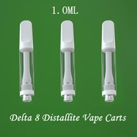 Delta 8 Full Ceramic Vape Cartridge Packaging Atomizer 510 Thread Vapes Pen Cartridges E-Cigarettes Vaping Carts 1ML Glass Thick Oil Vaporizer Pens Screw Tops