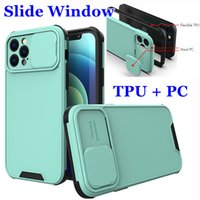 Camera Lens Protection Phone Cases Shockproof Sliding Window 2 in 1 TPU PC Cover For iPhone 13 Pro Max Samsung A20S A51 A71 A02S A12 A32 A52 A72 A02 F62 S20 FE A50 A30S