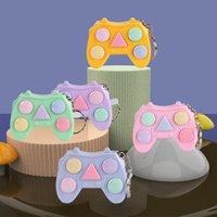 Fidget Juguetes Mini Manillar juego Llavero Juegos de memoria para niños Adultos Manillar Memory Training Maze Cube Gadget GWF7258