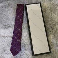 남자 편지 넥타이 실크 넥타이 골드 동물 자카드 파티 결혼식 짠 패션 디자인 상자 G002