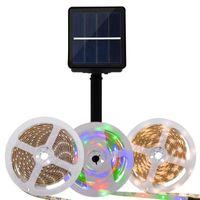 Strips Led Solar Strip Light Outdoor Garden Luces Lawn 2835 SMD Ground Lamp Floor Lights Waterproof Flexible Tape Decor